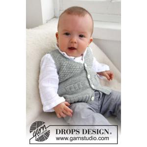 Junior by DROPS Design - Babyväst Stickmönster str. 1/3 mdr - 3/4 år