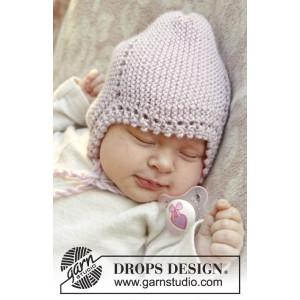 Lullaby by DROPS Design - Baby Mössa Stick-mönster strl. 0/1 mdr - 3/4 år