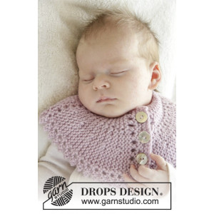 Serene by DROPS Design - Baby Fuskpolo Stick-mönster strl. 0/3 mdr - 3/4 år