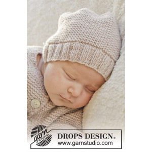 In my dreams by DROPS Design - Baby Mössa Stick-mönster strl. Prematur - 3/4 år