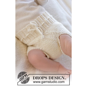 Pampered by DROPS Design - Baby Underbyxor Stick-mönster strl. Prematur - 3/4 år