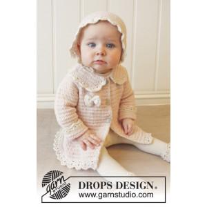 Little Lady Rose by DROPS Design - Baby Jacka Virk-opskrift strl. 0/1 mdr - 3/4 år
