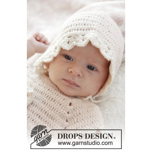 Camille by DROPS Design - Baby Hätta Virk-opskrift strl. 0/1 mdr - 3/4 år