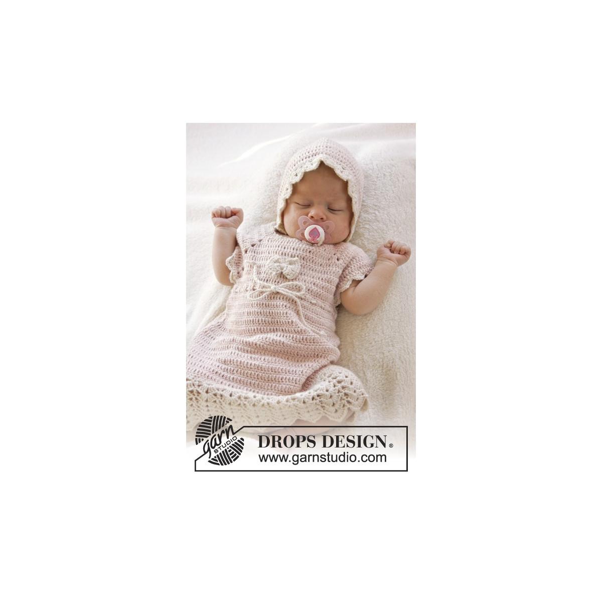 fcea84258d65 Beth by DROPS Design - Baby Klänning Virk-mönster strl. 0/1 mdr - 3/4 år -  Rito.se