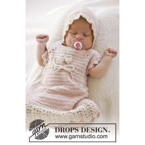 Beth by DROPS Design - Baby Klänning Virk-mönster strl. 0/1 mdr - 3/4 år