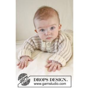 Little Darcy by DROPS Design - Baby Jacka Stick-mönster strl. 0/1 mdr - 3/4 år