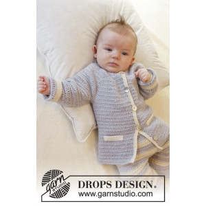 Heartthrob by DROPS Design - Baby Jacka Virk-mönster strl. 1/3 mdr - 3/4 år