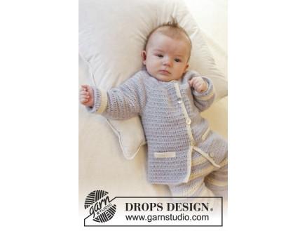 f104705beaf0 Heartthrob by DROPS Design - Baby Jacka Virk-mönster strl. 1/3 mdr ...