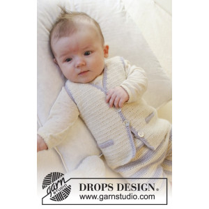Heartthrob Väst by DROPS Design - Baby Väst Virk-mönster strl. 1/3 mdr - 3/4 år
