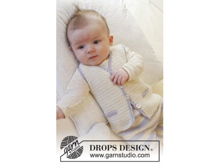 7ad5677f3acd Heartthrob Väst by DROPS Design - Baby Väst Virk-mönster strl. 1/3 ...