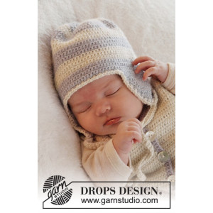 Heartthrob Hatt by DROPS Design - Baby Mössa Virk-mönster strl. 1/3 mdr - 3/4 år