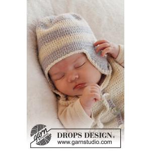 Heartthrob Hatt by DROPS Design - Baby Mössa Virk-opskrift strl. 1/3 mdr - 3/4 år