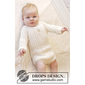 Simply Sweet by DROPS Design - Baby bodystock Stick-mönster strl. Prematur - 3/4 år