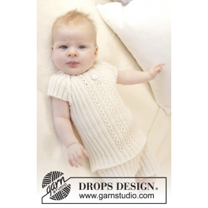 Simply Sweet Singlet by DROPS Design - Baby Undertröja Stick-mönster strl. Prematur - 3/4 år