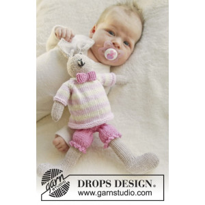 Mrs. Bunny by DROPS Design - Baby Nalle Stickmönster