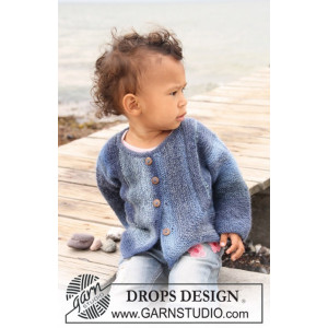 Corner Jacket by DROPS Design - Baby Jacka Stick-mönster strl. 1/3 mdr - 3/4 år