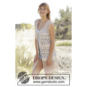 Summer Bliss Vest by DROPS Design - Vest Virkmönster str. S - XXXL