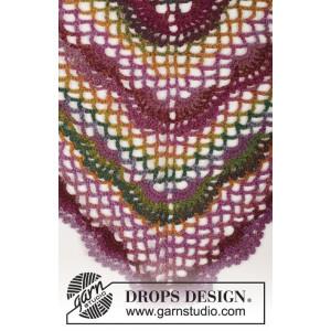 Summer Fling by DROPS Design - Sjal Virk-mönster 80x160 cm