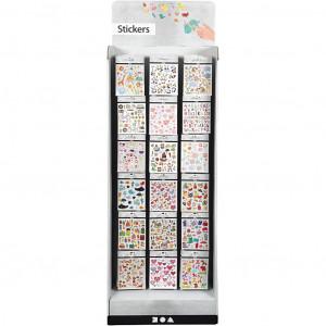 Golvdisplay med stickers, H: 1500 mm, B: 580 mm, 432 enheter & 5919.00