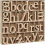Bokstäver av trä, H: 8 cm, tjocklek 2 cm, 112 st., MDF