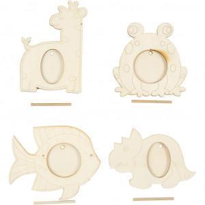 Køb Ramar, stl. 10×15 cm, innermÃ¥tt: 5+5,5×3,4 cm, 20 st., plywood