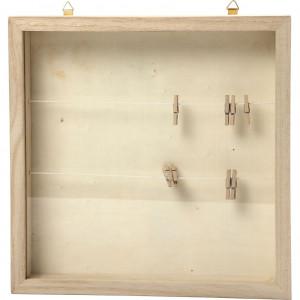 Køb 3D-ramar, stl. 23×23 cm, djup 35 mm, kejsarträd – 1 st