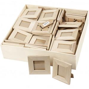 Køb Ramar, stl. 10×10+9×11 cm, innermÃ¥tt: 5×5+3,8×5,6 cm, 80 st., Kejsartr