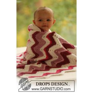 Baby Snug by DROPS Design - Filt Virk-mönster 65x83 cm eller 75x83 cm