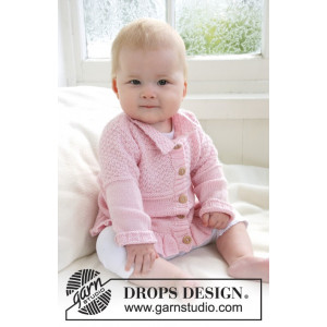 Lea by DROPS Design - Baby Jacka Stick-mönster strl. 1/3 mdr - 3/4 år