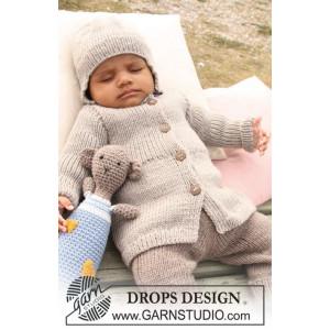 Samuel Jacka by DROPS Design - Baby Jacka Stick-mönster strl. 1/3 mdr - 3/4 år