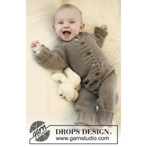 Happy Days by DROPS Design - Baby Dräkt Stick-opskrift strl. 1/3 mdr - 3/4 år