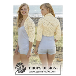 Lemon Cross by DROPS Design - Bolero Stick-opskrift strl. S - XXXL