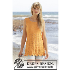 Sunkissed by DROPS Design - Topp Stick-opskrift strl. S - XXXL