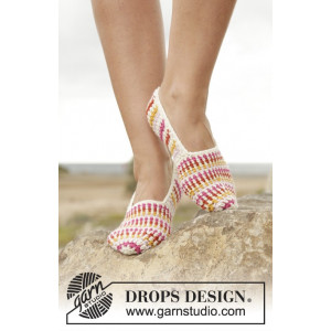 Tropical Steps by DROPS Design - Tofflor Virk-opskrift strl. 35/37 - 41/43