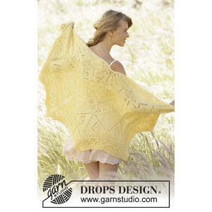 Spring Splendor by DROPS Design - Sjal Stick-mönster 70x140