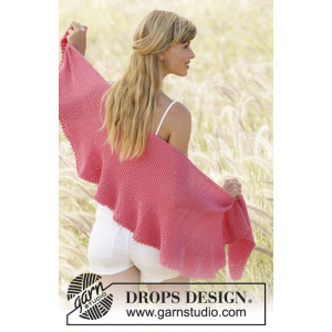 Pink Sorbet by DROPS Design - Sjal Stick-opskrift 33x140