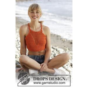 Mandarina by DROPS Design - Topp Virk-opskrift strl. S - XXXL