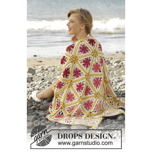 Spring Daze by DROPS Design - Filt Virk-mönster 93x130