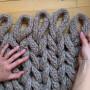 Chunky Filt av Rito Krea - Filt Stickmönster 130x110 cm