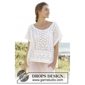 All Smiles by DROPS Design - Topp Stick-opskrift strl. S - XXXL
