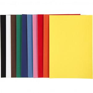 Køb Velourpapper, A4 21×30 cm, 140 g, 50 ark, mixade färger