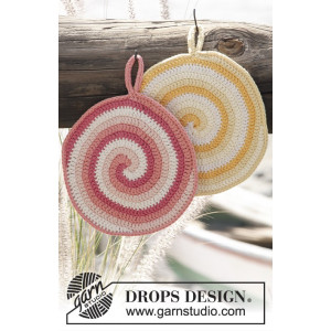Candy Daze by DROPS Design - Grytlappar Virkmönster