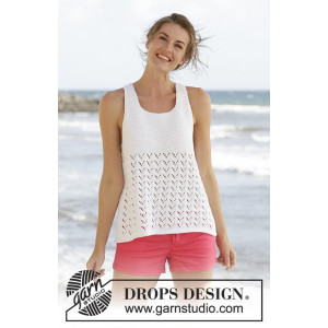 Holiday Bliss by DROPS Design - Topp Stick-opskrift strl. S - XXXL