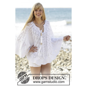 Angelica by DROPS Design - Poncho Stick-mönster strl. S/M - XXL/XXXL