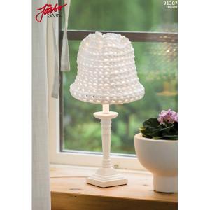 Hoooked Liten skärm till bordslampa - Lampskärm Virk-opskrift 52x25 cm