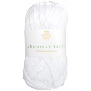 Shamrock Yarns Merciserad Bomull 02 Vit