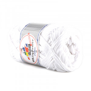 Mayflower Cotton 8/4 Garn 1402 Vit