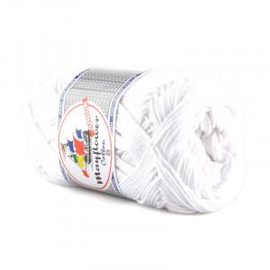 Mayflower Cotton 8/4 Garn Unicolor 1402 Vit
