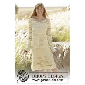 Daniella by DROPS Design - Jacka och kjol set Virk-opskrift strl. S - XXXL