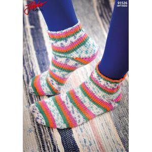 Järbo Tå upp-sockor Med Magic Loop-teknik - Sockor Stick-opskrift strl. 21-45